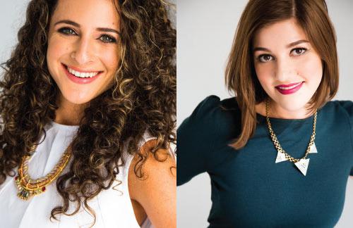L to R: Claire Mazur, Erica Cerulo
