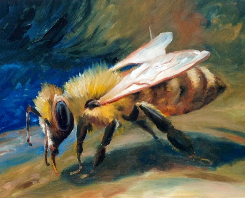 A Bee for Tami  - 8x10 - Oil on panel - SOLD