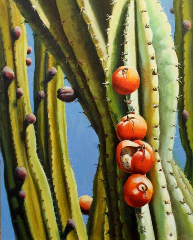 Desert Fruit  - Oil on panel - SOLD