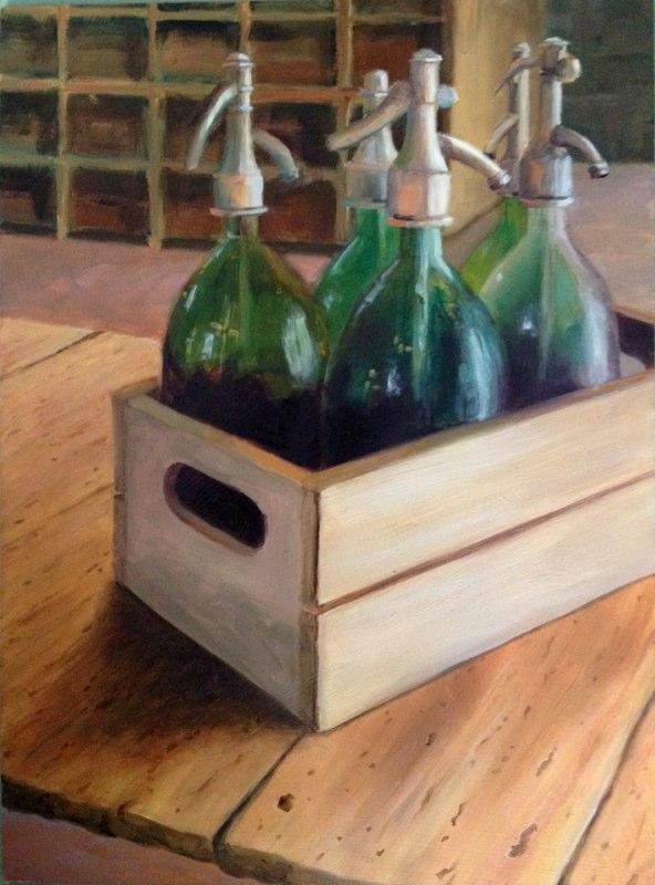 Seltzer Bottles  - 12x16 - Oil on panel - SOLD