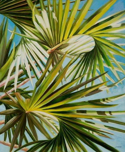 Palm Arabesque - 20x24 - Oil on Panel - $1350.00