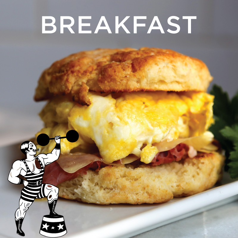 Signature breakfast sandwich