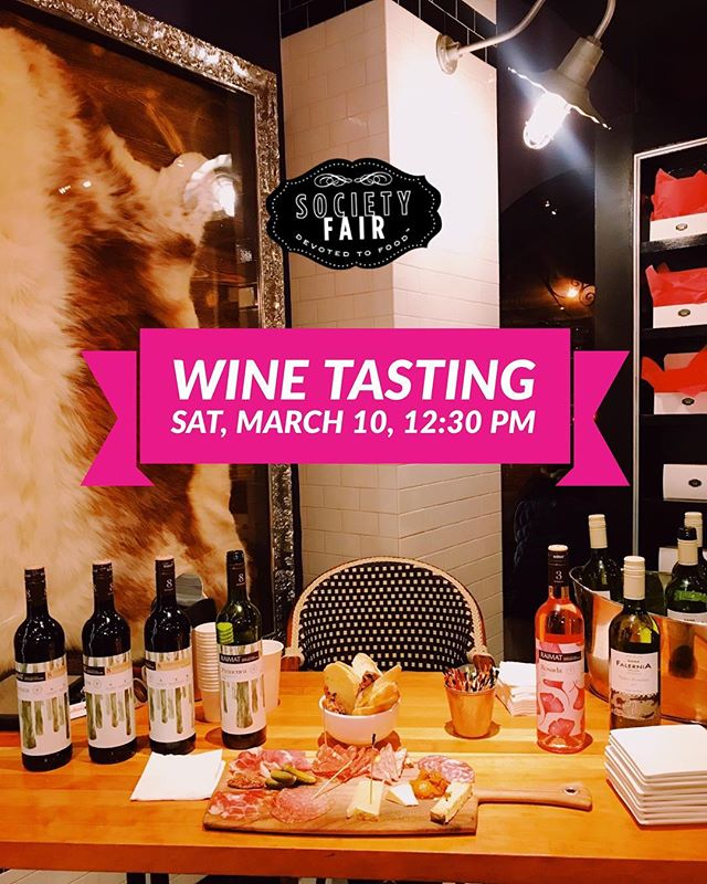 Saturday! #Wine tasting with Isabelle Dubois of Virginia Imports. 12:30 pm in the Market 🍷 No reservation required! #winetime