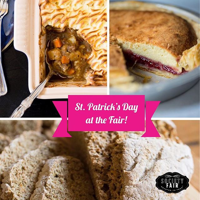 #StPatricksDay is this Saturday, Fair friends! Join us in the Bistro for #Irish fare: corned beef sandwiches, Irish stew, sausage rolls, Irish beer and Bakewell Tart! Don't forget to order tomorrow's shepherd's pie #datenightbag! [📷: @scottsuchman for @myirishtable]