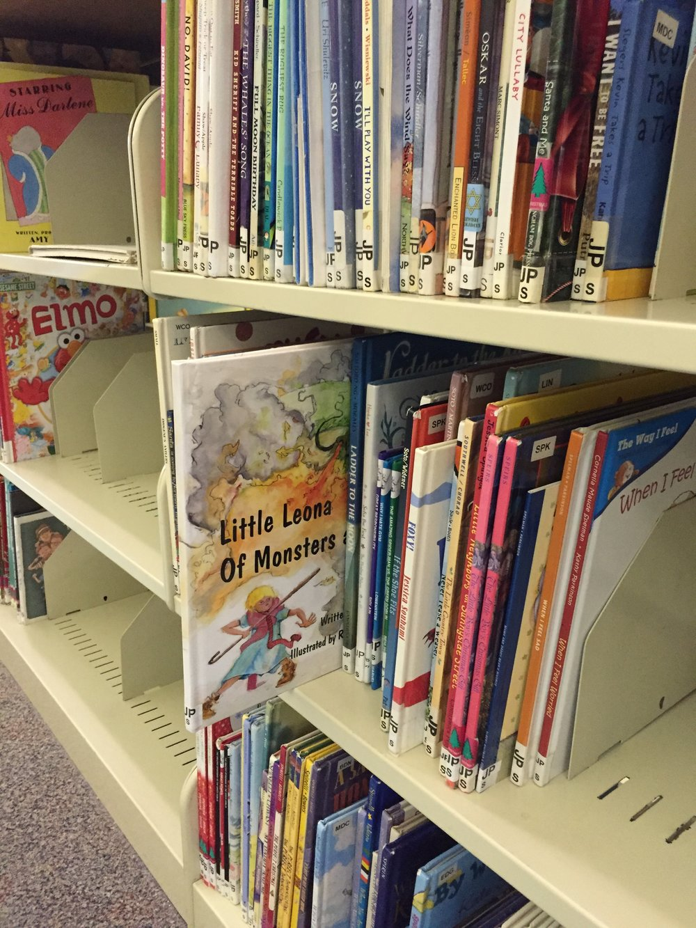Little Leona on the shelves at the Annapolis Library!