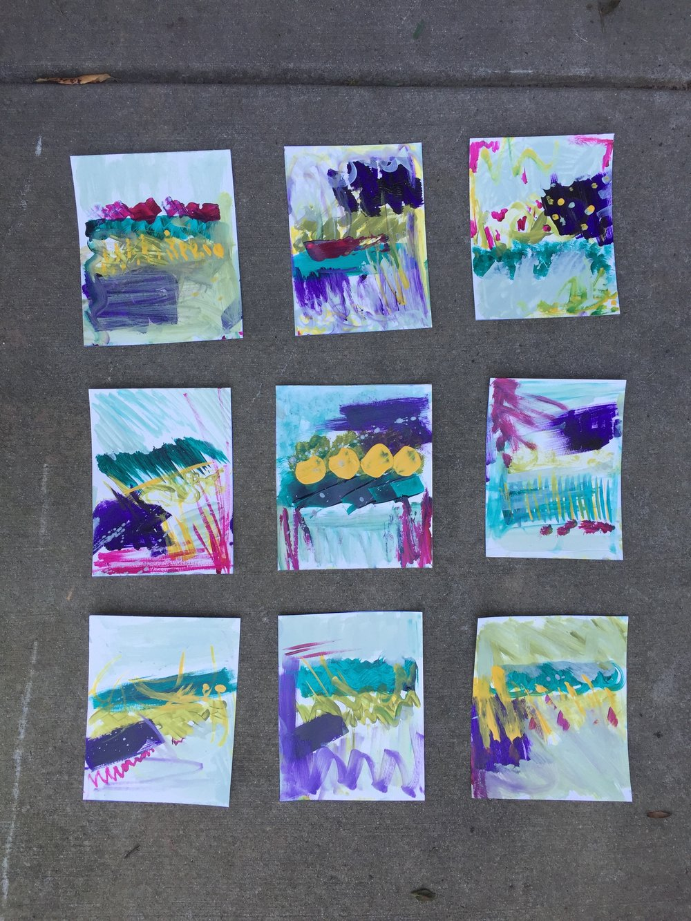 Look! My very first homework from Tara's course. I've come a LONG way.