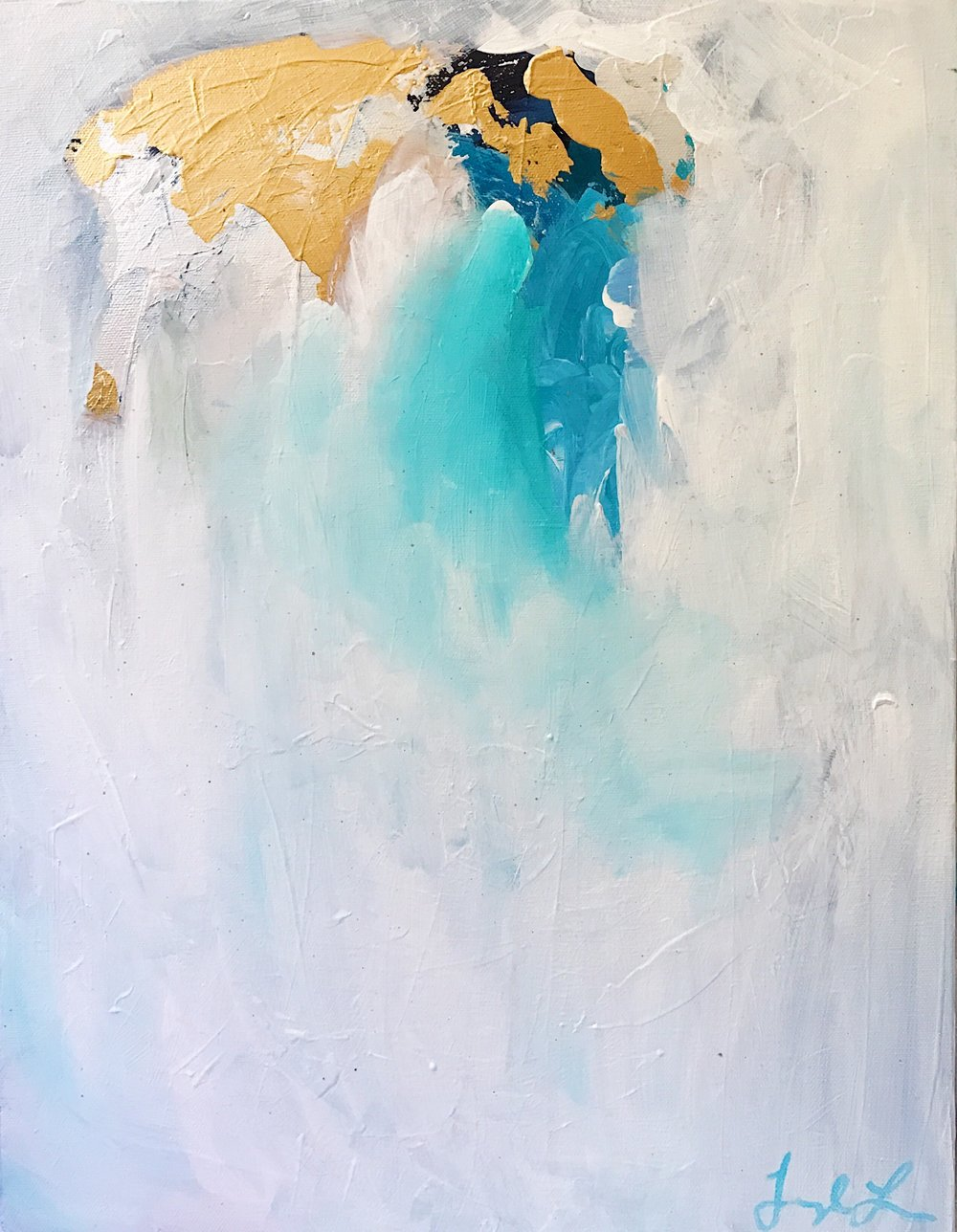 """""""Come Closer,"""" an abstract painting by Taylor Lee."""