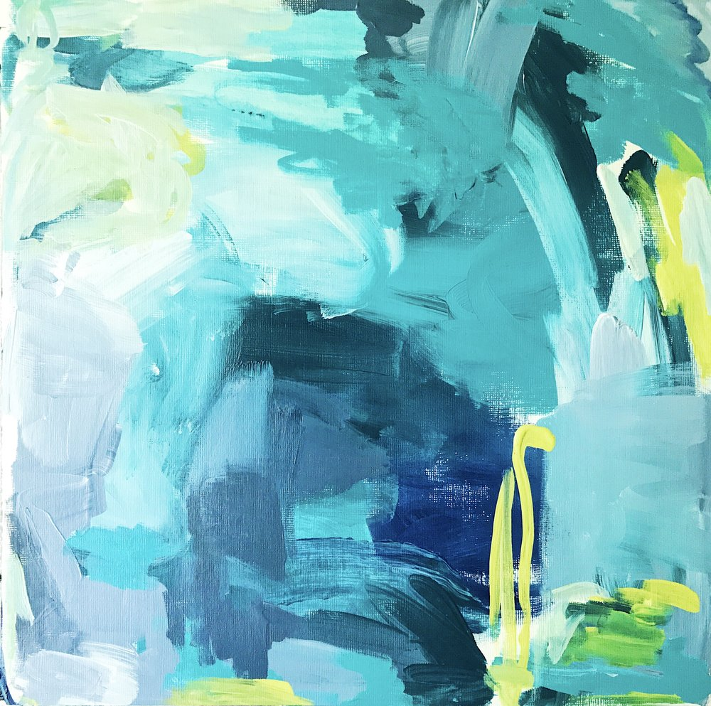 Taylor Lee Paints :: Original Abstract Art Blue Painting