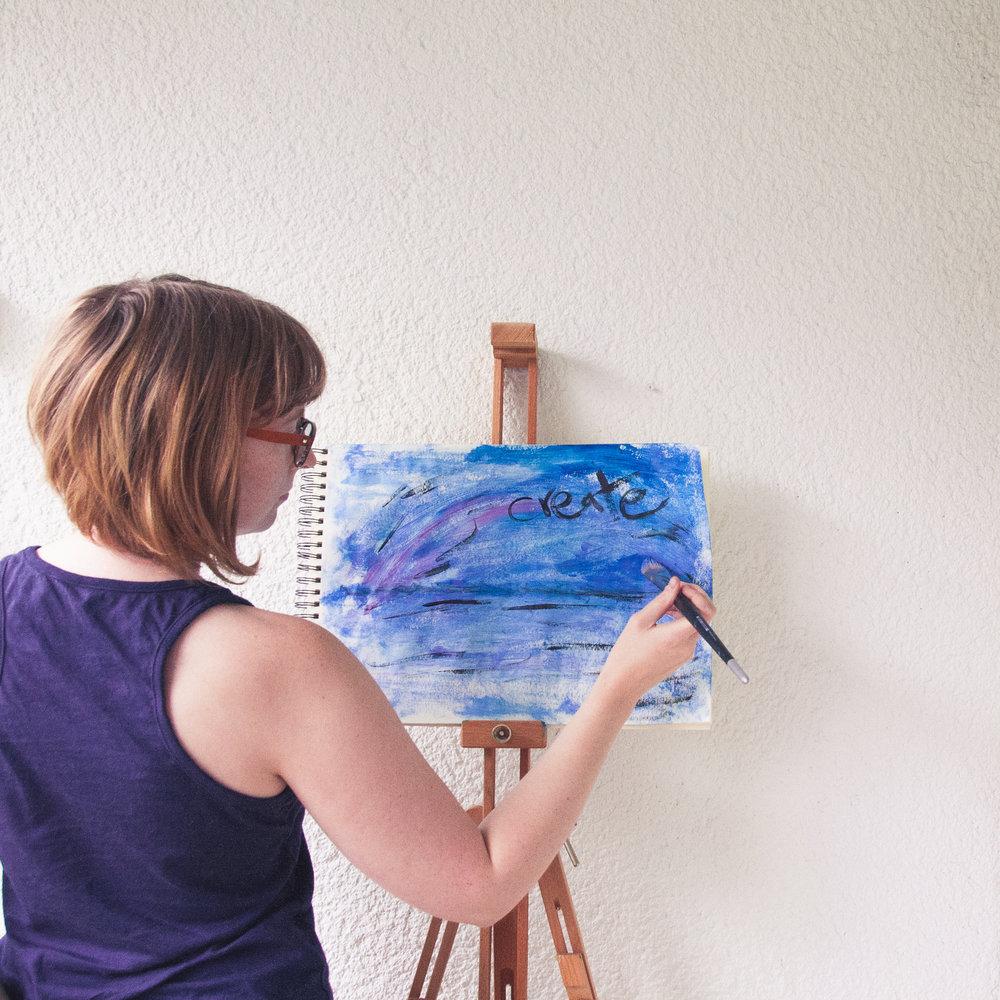 Elin Lööw in her studio.