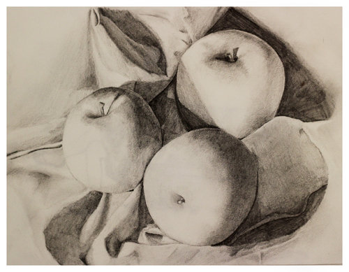 My early still life drawings. Boy did I love graphite pencil. Nothing more satisfying the shading the crap out of those apples.