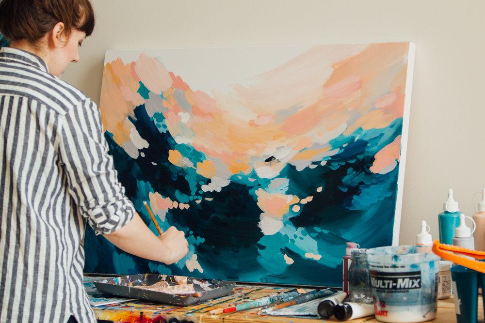 Taylor Lee Paints :: Artist in the studio