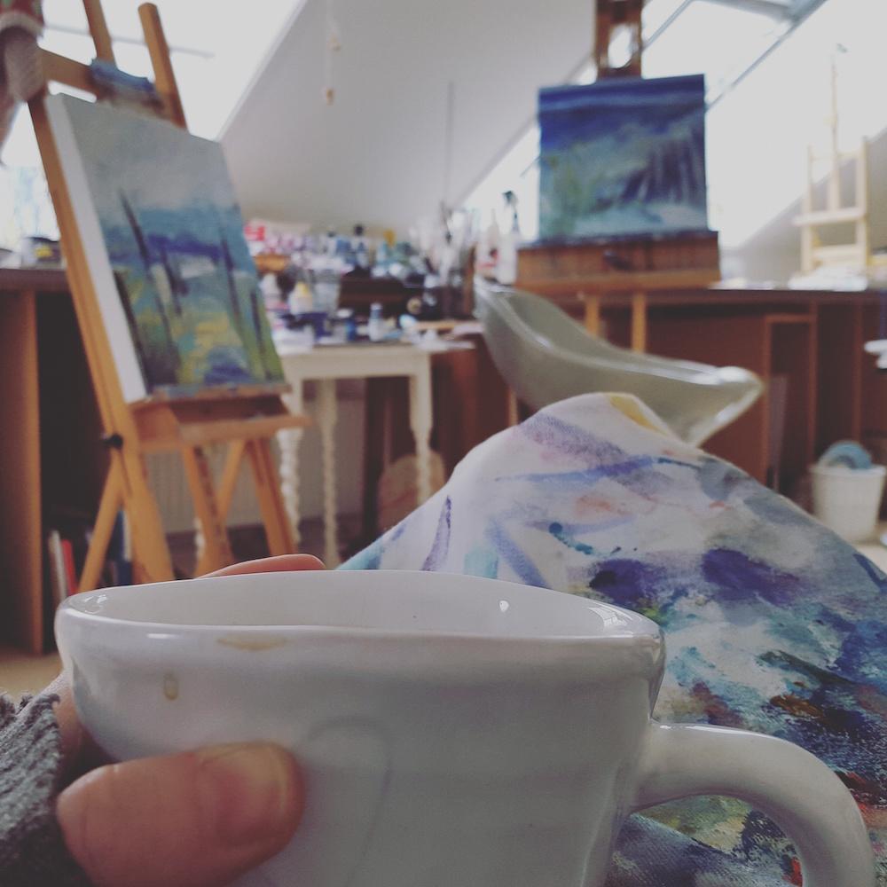 Tara Leaver in her studio.