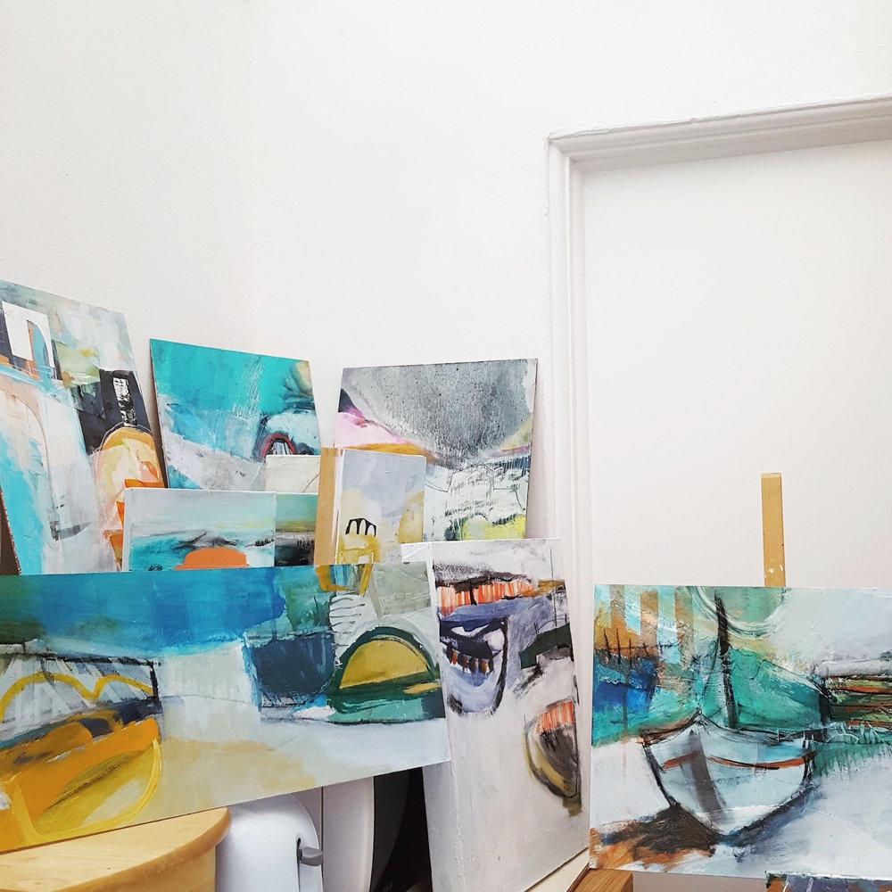 A snapshot from Tara Leaver's studio.