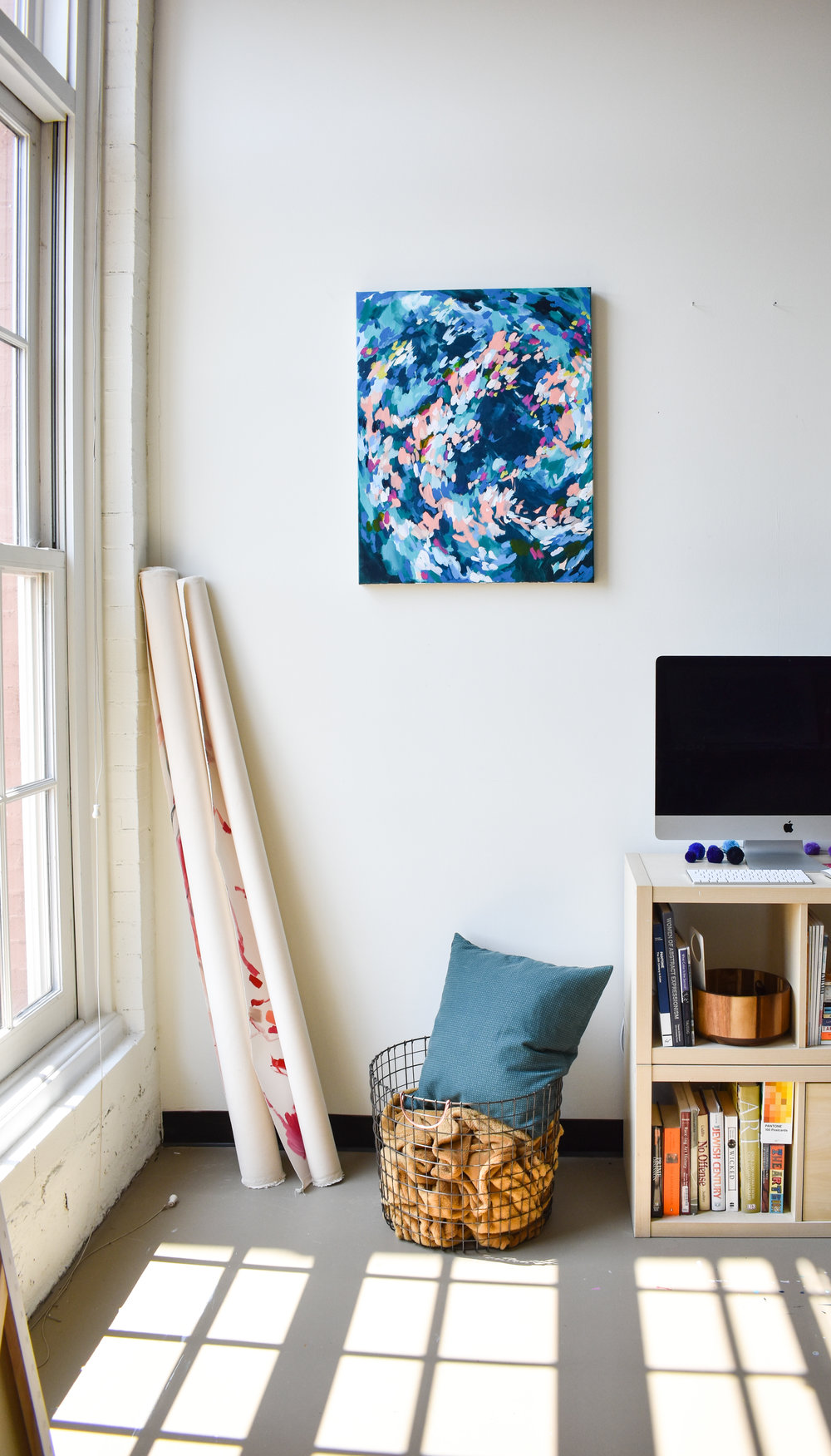 Blue abstract painting by taylor lee paints