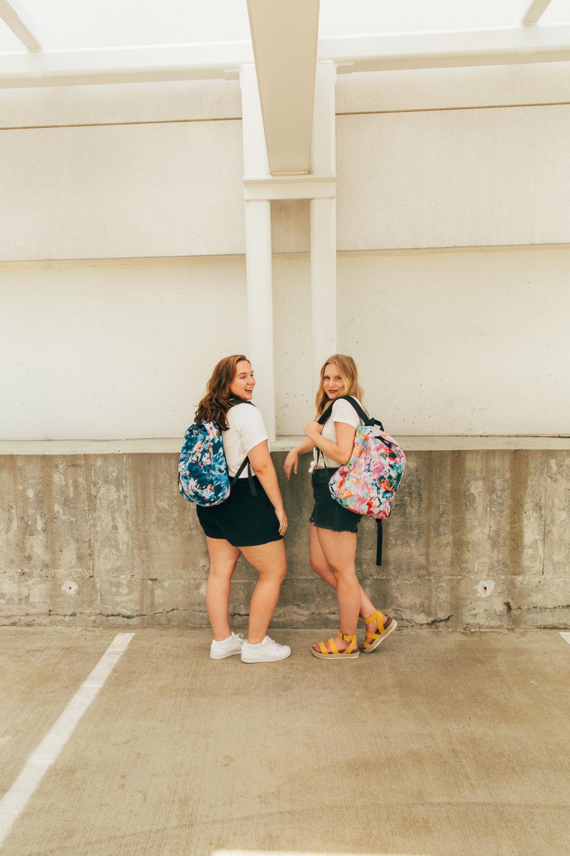 Taylor Lee Paints :: Original Design Ocracoke Island Las Paletas Mameys Backpack