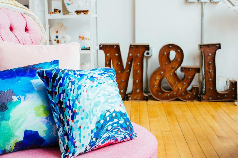 Taylor Lee Paints Pillows
