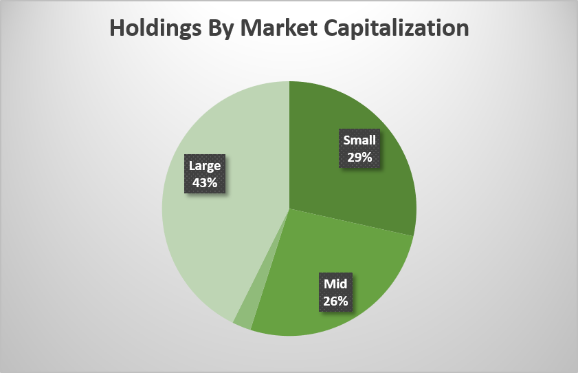 Alphamont Model Portfolio Holdings BY Market Capitalization AS of DECEMBER 31, 2017