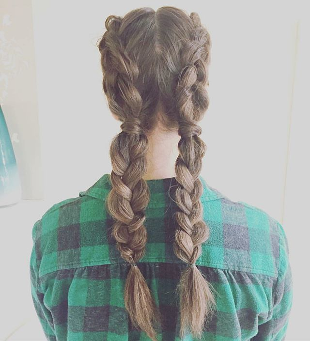 Party braids by Lexi! #braids #dutchbraids #partybraids #holidays #christmas #hannukah #holiday #happyholidays #bye2016 #plaid #cute #style #updo #updos #blowdry #blowdrying #blowdrybar #minneapolis #blowdrybeauties #minnesota #mn #uptown
