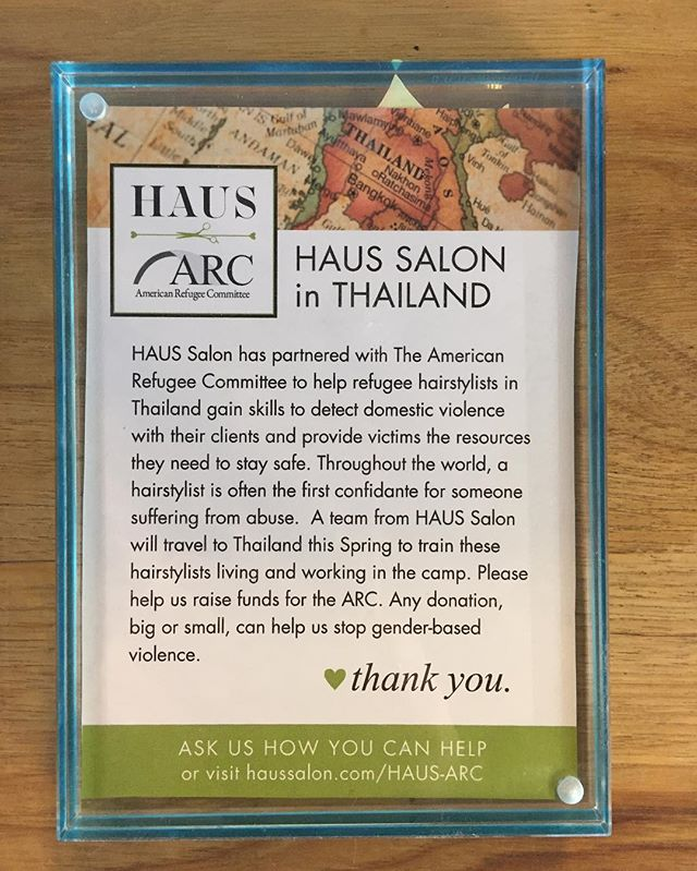 Want to know how you can help? Visit haussalon.com/HAUS-ARC to learn more! #fundraising #uptown #mn #minnesota #minneapolis #helpingothers #love #americanrefugeecommittee #haus #donation
