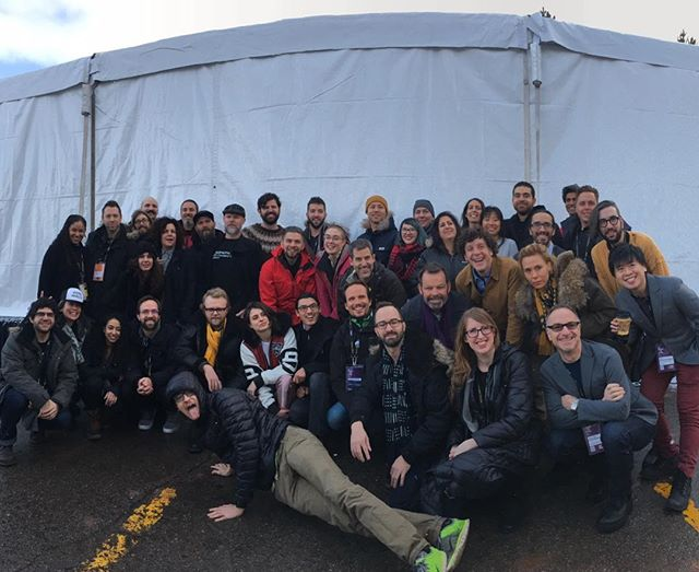 the incredible new frontier teams! congratulations everyone! #amancalledhue #sundancefilmfestival #newfrontier