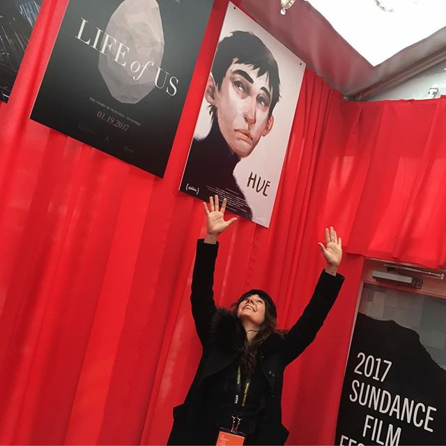 we did it! xo! #sundance #newfrontier #sundancefilmfestival #amancalledhue