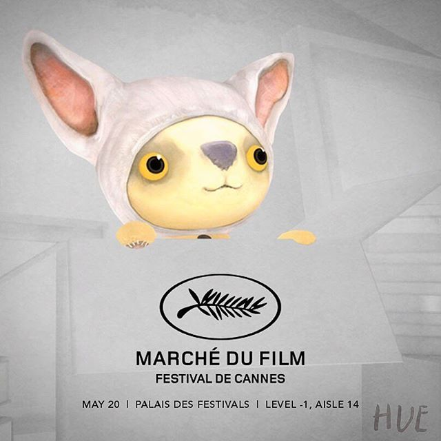 hue (and yellow fellow) are heading to cannes film festival next week! meet him at the palais des festivals on may 20th!