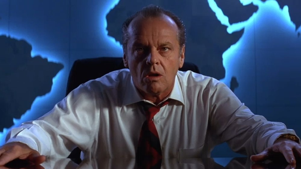 Jack Nicholson as President James Dale in Tim Burton's Mars Attacks!