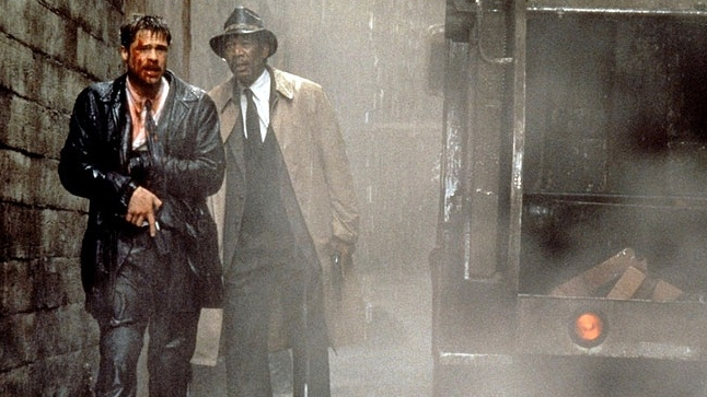 Se7en, Morgan Freeman, Brad Pitt