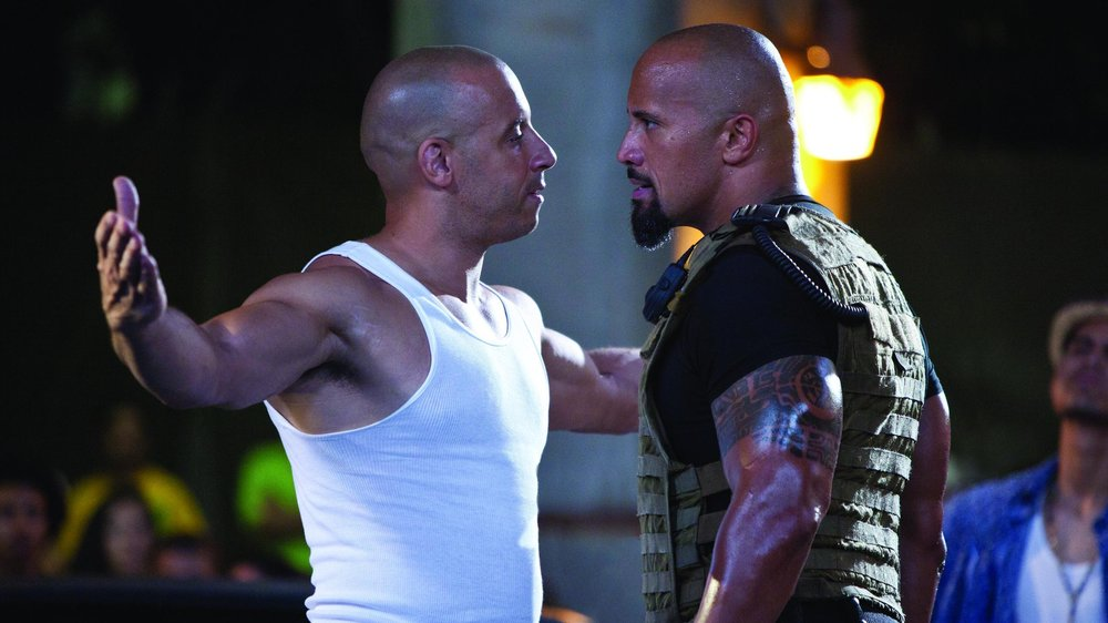 Fast Five, The Rock, Vin Diesel, Paul Walker
