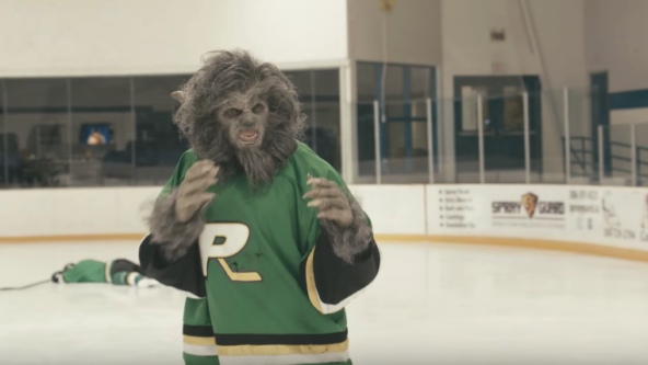 Another Wolfcop  wouldn't be a Canadian movie without a scene of ice hockey.
