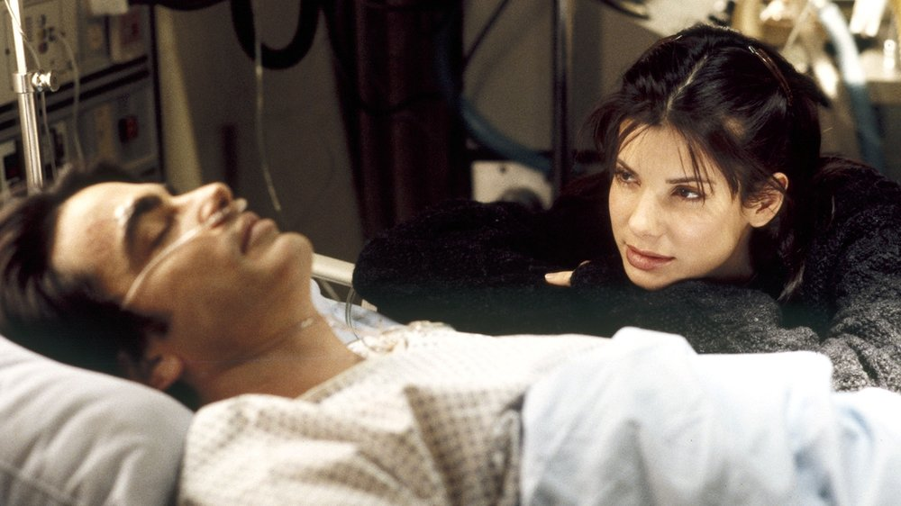 sandra bullock, while you were sleeping, while you were sleeping movie, Bill Pullman, Peter Gallagher,