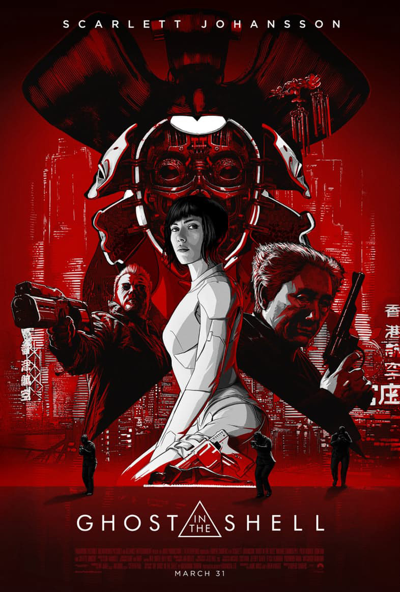 scarlett johansson, the ghost in the shell, the ghost in the shell 2017