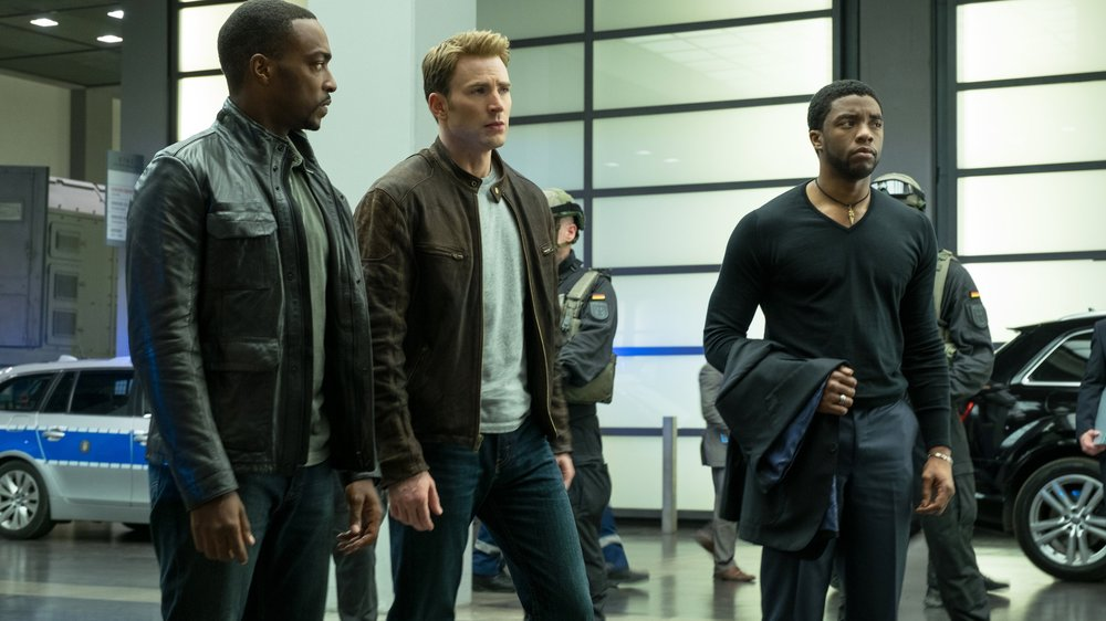 captain america civil war, anthony mackie, chadwick boseman, chris evans, black panther,