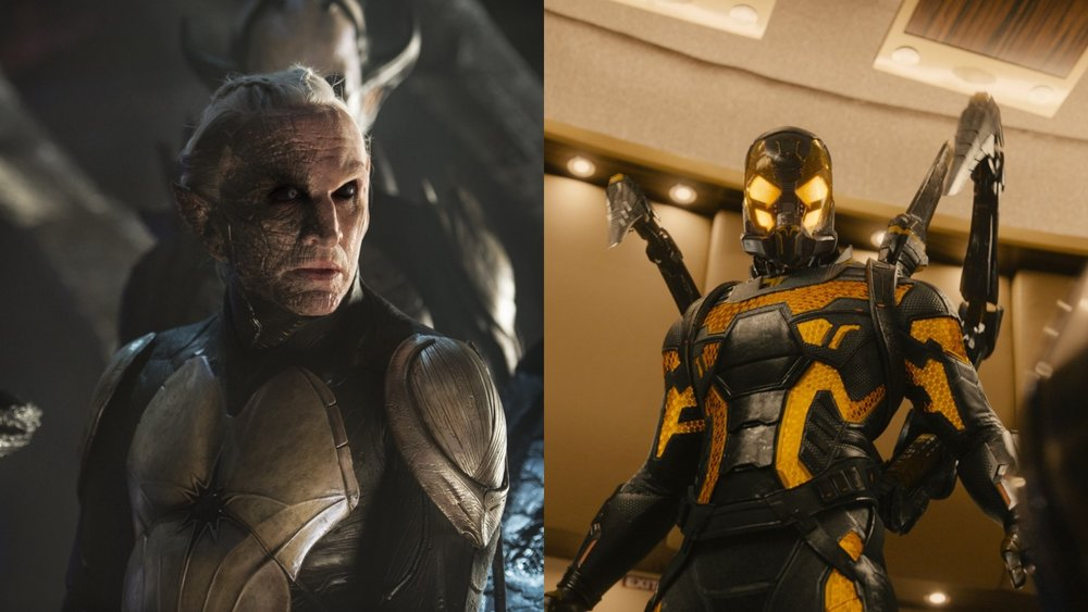 Christopher Eccleston as Malekeith in Thor: The Dark World and Corey Stoll as Yellowjacket in Ant-Man