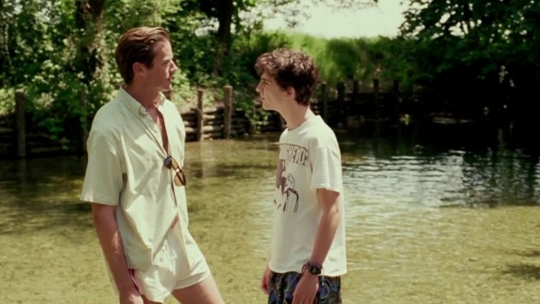 Armie Hammer and Timothee Chalamet in Luca Guadagnino's Call Me By Your Name