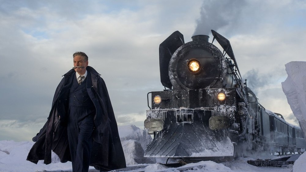 The two stars of Murder on the Orient Express, Kenneth Branagh as Hercule Poirot and the Orient Express playing itself.