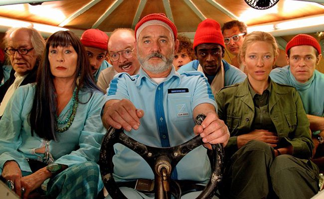 the life aquatic with steve zissou, the life aquatic, wes anderson, bill murray, owen wilson, cate blanchett, anjelica houston, willem dafoe, seu jorge, bud cort, jeff goldblum, michael gambon, noah taylor,