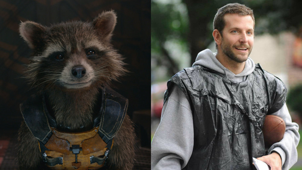 bradley cooper rocket raccoon marvel cinematic universe