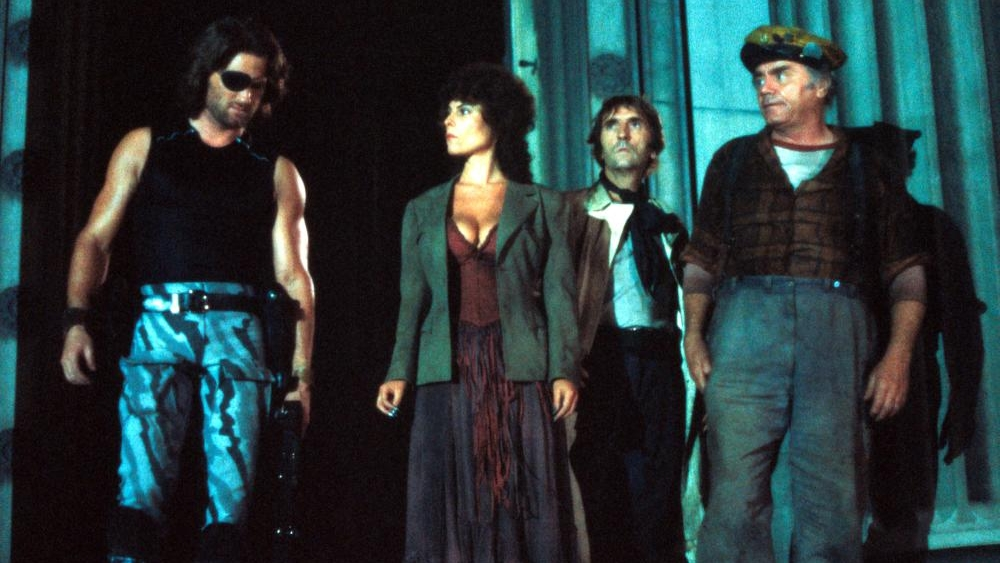 Kurt Russell, Adrienne Barbeau, Harry Dean Stanton, Ernest Borgnine, Escape from New York