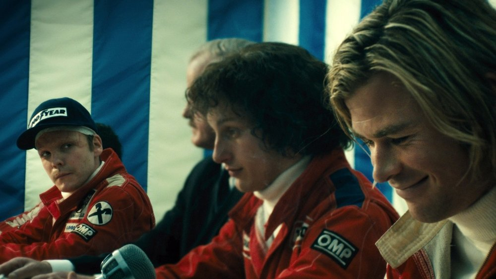 ron howard, chris Hemsworth, daniel bruhl, james hunt, niki lauda, peter morgan, olivia wilde,