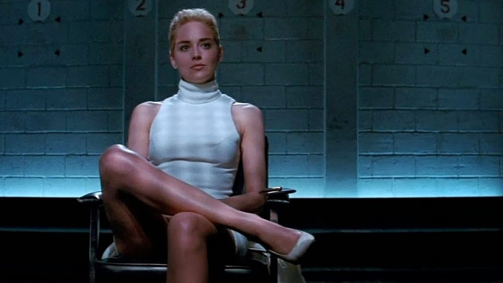Sharon stone, basic instinct, Paul Verhoeven, Michael Douglas, Jeanne Tripplehorn,