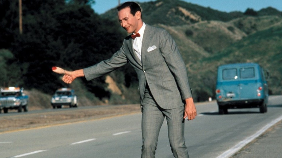 Pee-wee's Big Adventure  directed by Tim Burton in 1985.