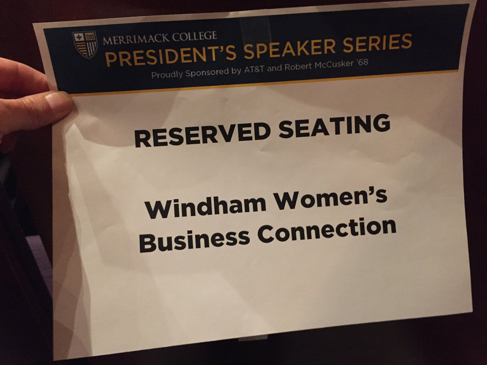 The Windham Women's Business Connection enjoyed reserved seating together at the event.