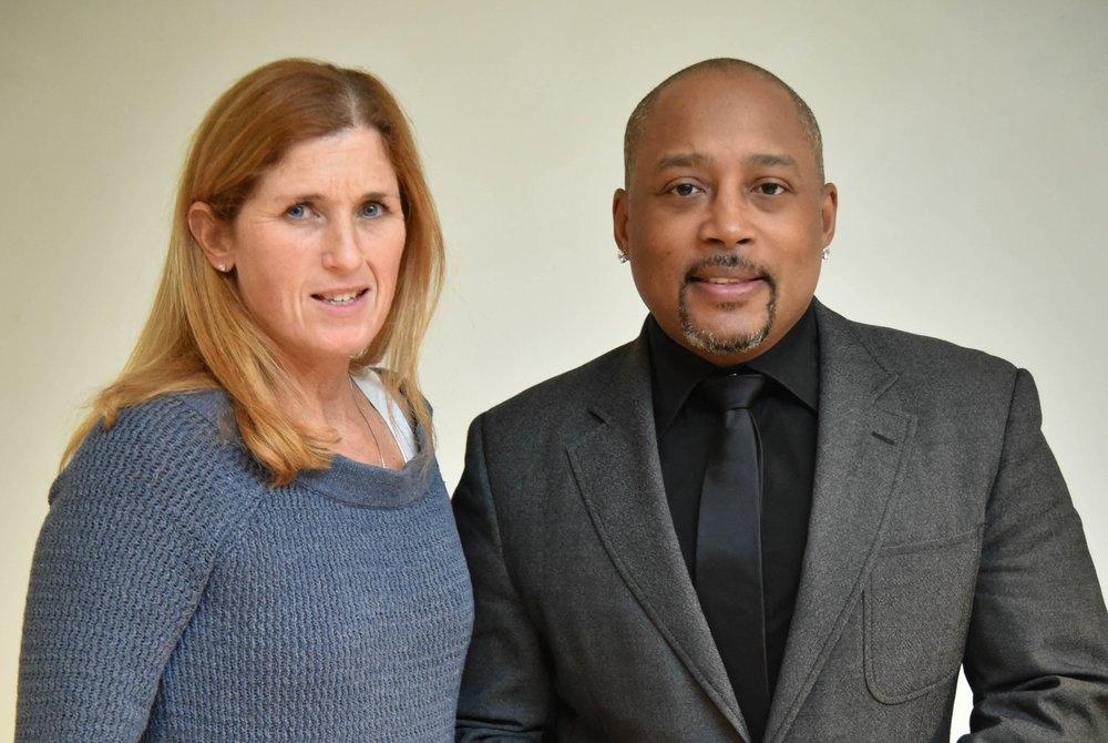 WWBC President Susan McInnis meets Daymond John