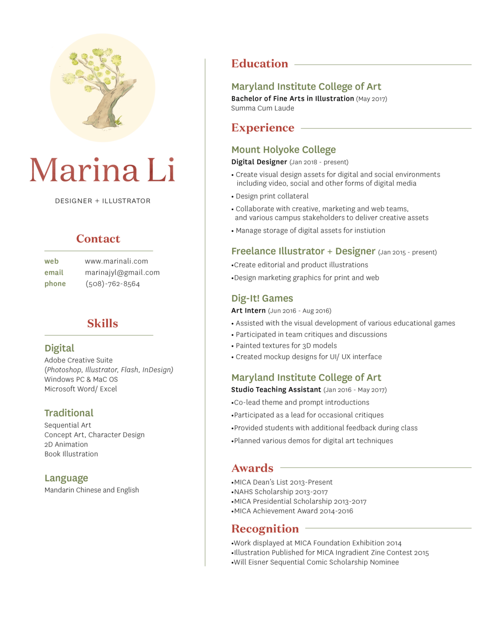 MarinaLi_Resume