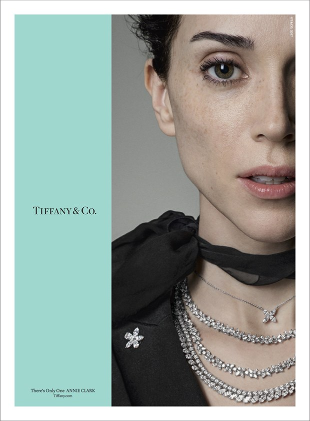 ST VINCENT x TIFFANY & Co. - Icons meet in a new campaign from Laird + Partners for Tiffany & Co- The New Fragrance. Taking the Beatles classic,