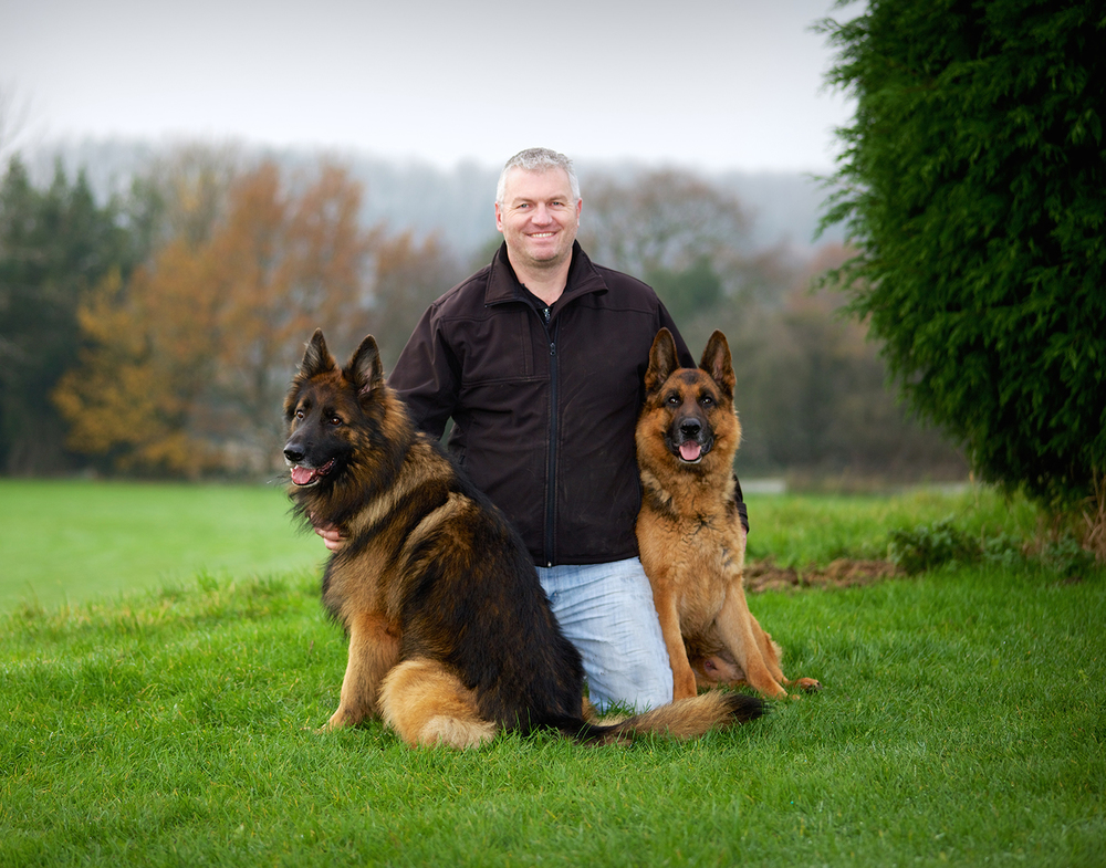 Steven and two of his dogs.