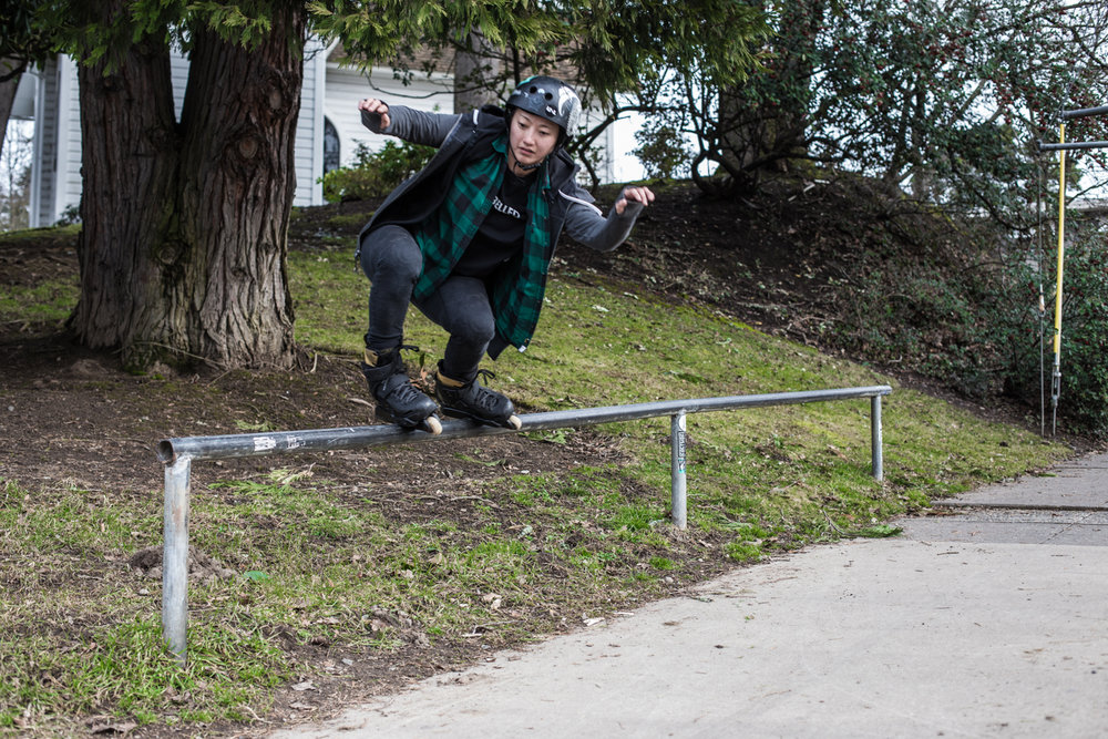MELISSA BROWN - from time to time, Melissa Brown comes to town! I get SO stoked to skate with another girl, she brings the hype and throws down the tricks. @mellybladie