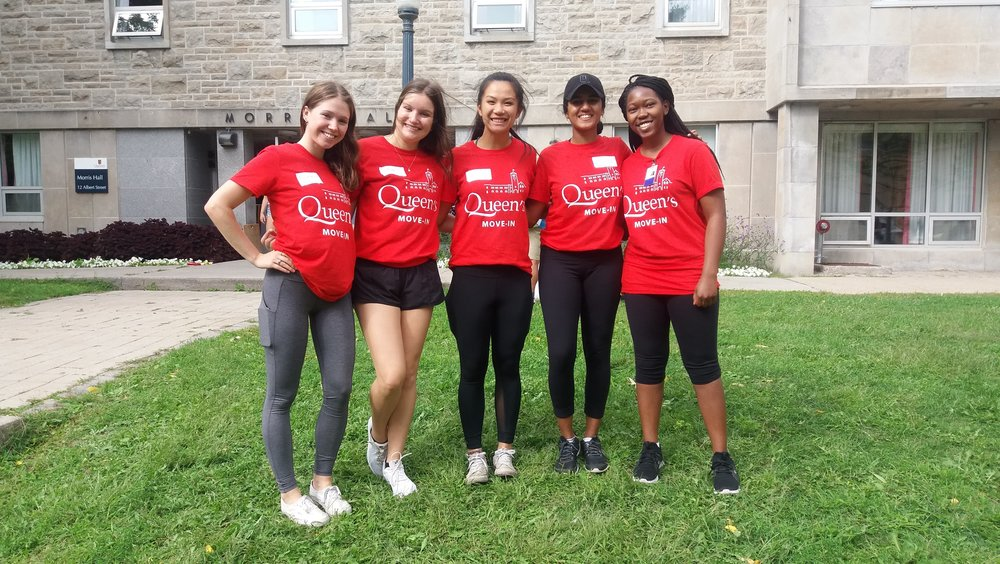 Morris hall move-in team