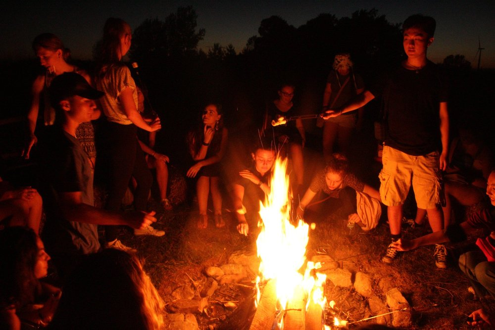 corn maze campfire